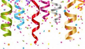 coriandoli – colored ribbon with confetti