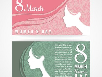2 banner festa donna 8 marzo – women day banner set