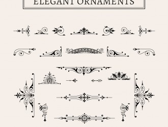23 decorazioni eleganti – elegant ornaments
