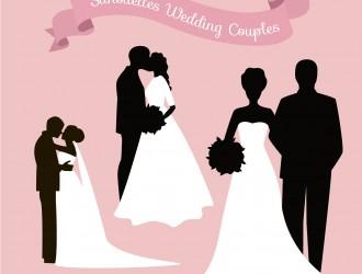 3 coppie sposi – silhouettes wedding couples