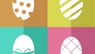 4 uova di Pasqua – colours silhouette  Easter eggs