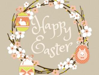 Pasqua, fiori, uova, conigli – happy Easter flowers, eggs, rabbits