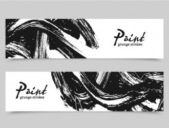 banner pennellate – paint brush banners