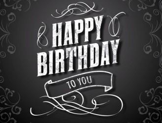 happy birthday elegant card – auguri eleganti