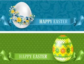 2 banner uovo Pasqua – Easter eggs banner