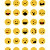 30 emoticon rotonde – funny emoticons set