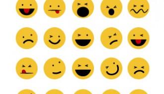30 emoticon rotonde – funny emoticons set