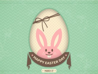 buona Pasqua coniglio uovo – happy Easter bunny card