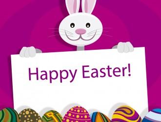 coniglio Pasqua uova – Easter bunny eggs placard background