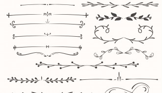 divisori disegnati a mano – hand drawn dividers