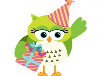 gufo con scatola regalo – owl with gift box