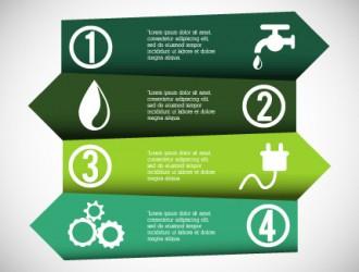 infografica ecologia, energia – ecology, energy infographic