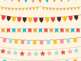 festoni, bandierine feste – party flags