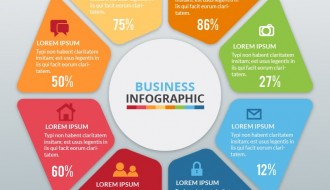 infografica circolare – business circle infographic