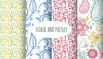 4 pattern floreali – floral and paisley pattern