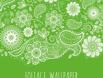sfondo verde fiori, foglie – green foliage background