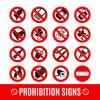 16 segnali divieto – prohibition signs