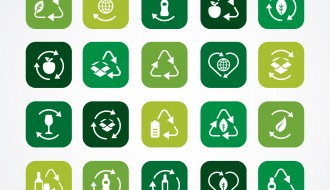 20 icone ecologia riciclo – ecology recycle icons