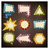 9 etichette luminose – neon light advertising labels