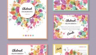 bigliettini colorati – 5 colorful greeting cards