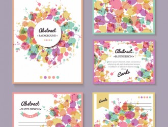 bigliettini colorati – 5 colorful greeting cards