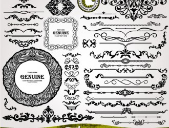 bordi decorativi vintage – ornament vintage borders elements