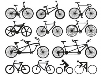 12 biciclette – bicycle silhouette