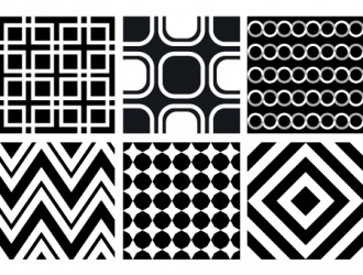 6 pattern geometrici bianco nero – geometric black white pattern