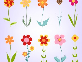10 fiori – hand drawn doodle flowers