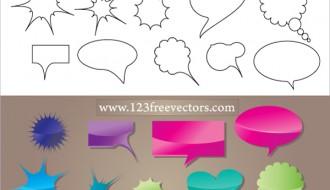 30 nuvolette fumetti – speech bubbles
