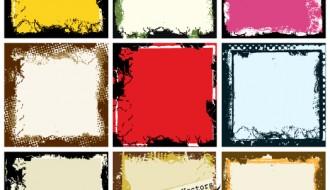 9 cornici foto – grunge photo frame