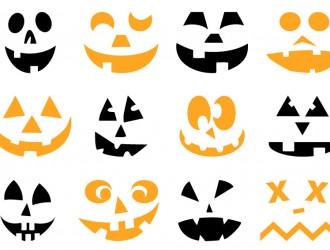 12 sagome zucche – Halloween pumpkins