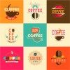 9 coffee stickers set – etichette caffè
