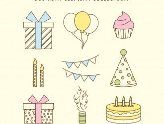 9 elementi compleanno – birthday elements