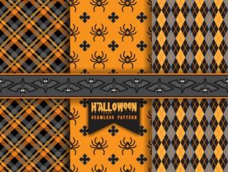 3 Halloween pattern, ragni, pipistrelli – bats, spiders