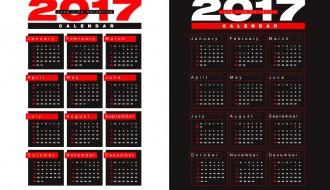 calendario 2017 – calendar design template 2017