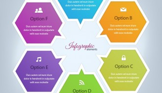 infografica esagoni – infographic elements