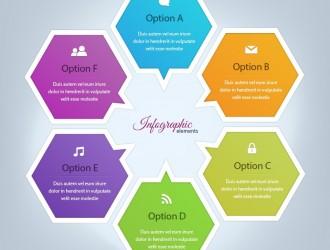 infografica esagoni – infographic elements
