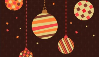 palle Natale, sfondo marrone, Christmas balls, brown retro background