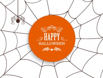 ragnatela, ragno – Happy Halloween card, spider