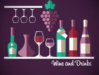 vino, bicchieri, bottiglie, uva – wine and drinks