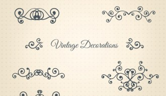10 decorazioni – vintage decorations