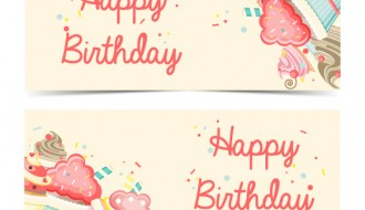 2 cupcake compleanno – cupcake happy birthday banner