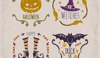 4 etichette Halloween – labels