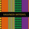6 Halloween seamless patterns