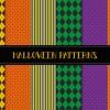 6 Halloween seamless patterns