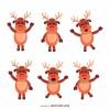 6 cervi Natale – Christmas deers cartoon