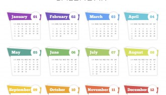 calendario 2017 – calendar template abstract style