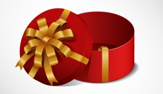 scatola regalo rossa rotonda – open red round gift box