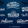 scritte, font Halloween – typography label set